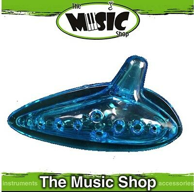 New CPK Percussion Transparent Blue Plastic Ocarina - Key of C - ED422B
