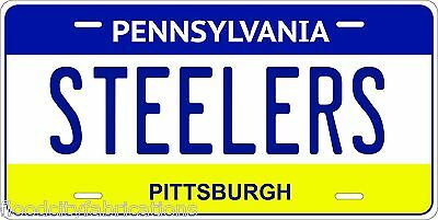 PITTSBURGH STEELERS License Plate PENNSYLVANIA PA FOOTBALL ALUMINUM METAL NEW