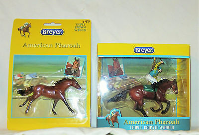 NIB 2015 Breyer *AMERICAN PHAROAH* Triple Crown SOLD OUT STABLEMATE And ORNAMENT