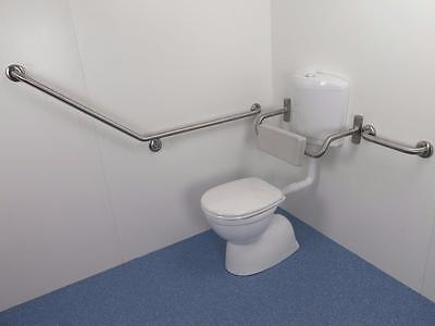 Toilet Backrest and Grabrails*Stainless Steel*Disability Bathroom*AS1428.1*BT6/3