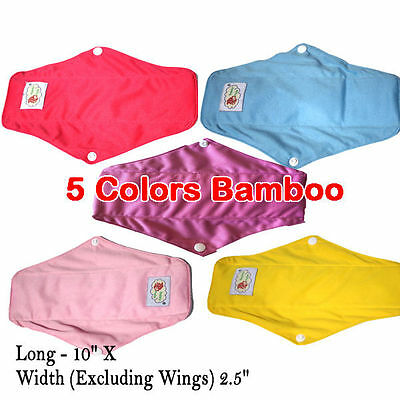 Bamboo Cloth Reusable Menstrual Sanitary Maternity Mama Pads