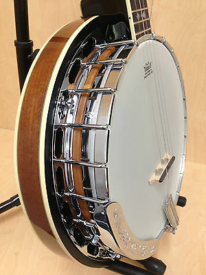 Caraya Premium 5-string Banjo w/Tone Ring,Mahogany Resonator+Hard Case. BJ-007