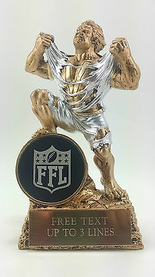 Fantasy Football  FFL  Monster Resin Trophy Hulk Award. Free engraving.