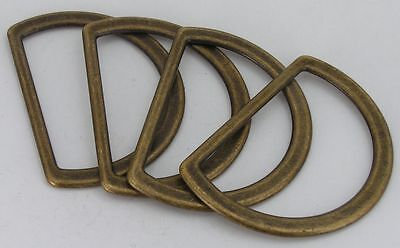 4 D-Rings flat old brass 52mm (67x48mm) 04.62 am