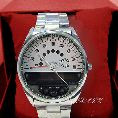 New Mini Cooper Coupe Speedometer Sport Stainless Steel Watch