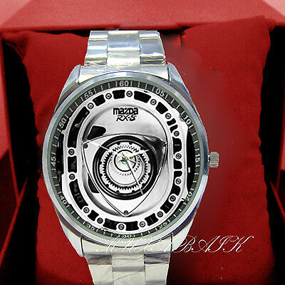 New Mazda RX 8 RX7 Rotary Engine Part Metal Watch