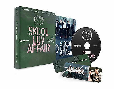 K-POP BTS 2nd Mini Album [SKOOL LUV AFFAIR] CD+115p Photobook+Photocard Sealed