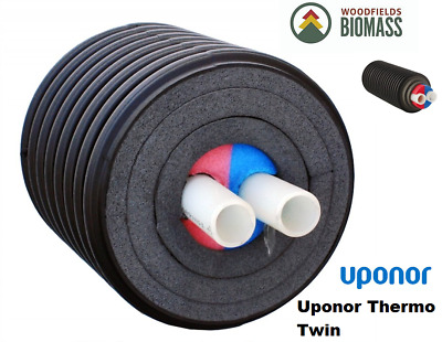 Pre-Insulated Pipe-Uponor Thermo Twin-Max.6 Bar- 95°C/heating Biomass Hot Water