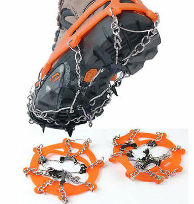 Non-Slip Spikes Snow Ice Crampons Shoes Chain Cleat For Hiking Climbing Walking