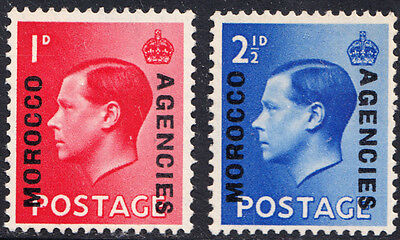 Edward VIII SG75 - SG76 Morocco Agencies Complete Set of 2 British Currency MNH