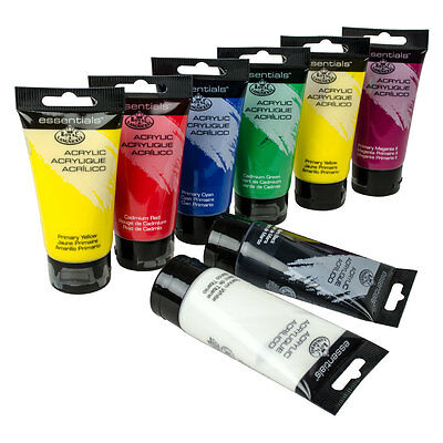Royal & Langnickel Essentials Art & Craft Acrylic Paint 75ml Tubes x 12 Colours