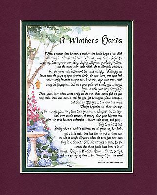 #07 Gift Present for Mom or daughter. Mothers day birthday gift. Keepsake poem