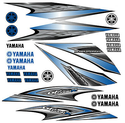 2005 Yamaha Gp1200R Waverunner Decal Kit Blue Gp 1200 R