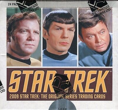 Star Trek The Original Series 2009 Sealed Wax Card Box 24ct 3 Autograph Cards