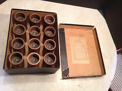 Lot of 12 Early Brown Wax Phonograph Cylinder Records Edison Columbia