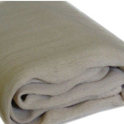 LARGE 100% COTTON TWILL DUST SHEETS COVERS (12ft x 9ft) PROFESSIONAL QUALITY