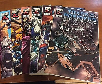 """TRANSFORMERS """"More than Meets the Eye"""" Lot of 6 DW Trade Paperback COMIC #'s 3-8"""