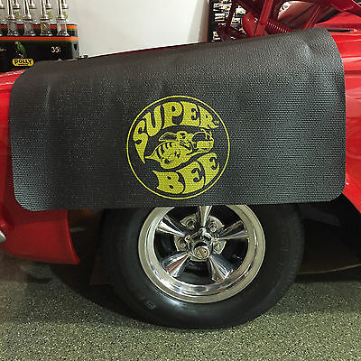 Dodge Super Bee Logo Fender Gripper Black Cushion Protective Fender Cover FG2215