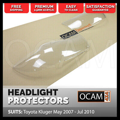 OCAM Headlight Protectors for Toyota Kluger May 2007 - Jul 2010 Lamp Covers