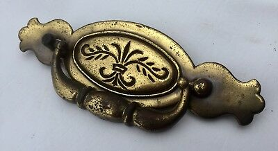 "Antique Hardware Furniture Part Vintage Brass Chippendale drawer pull 4.5""center"