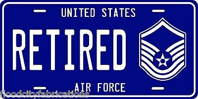 AIR FORCE MASTER SERGEANT License Plate RETIRED UNITED STATES USAF MSGT