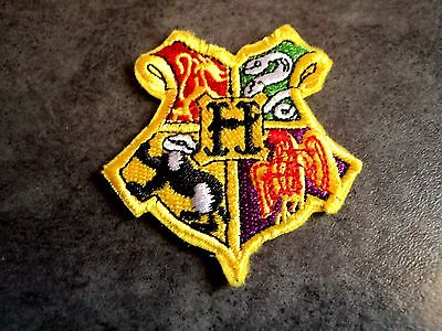 New Harry Potter Hogwarts Crest Embroidered Patch Applique Badge Iron Sew On