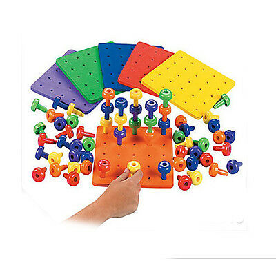 Peg and Peg board stack sensory Autism Special needs occupational therapy