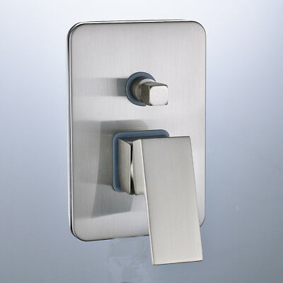 Brushed Nickel Single Handle Shower Control Mixer Valve with Diverter 2 Ways