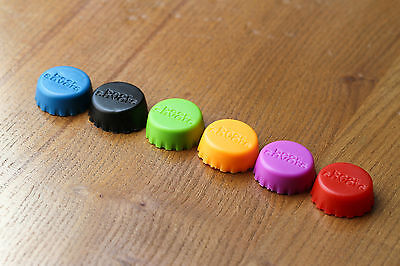 NEW Set of 6 Reusable Silicone Beer Wine Saver Bottle Cap Party Drink Caps VAT