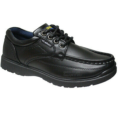New Boys Black School Shoes Lace Up Trainers Back To School Shoes Boots Uk Sizes