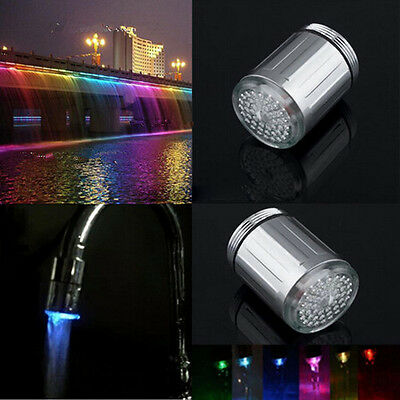 Elegant LED Water Faucet 7 Colors Changing Shower Sensor Tap ShowerS Taps