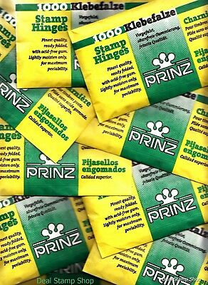 1 x Packet of 1,000 PRINZ Stamp Hinges - FREEPOST -