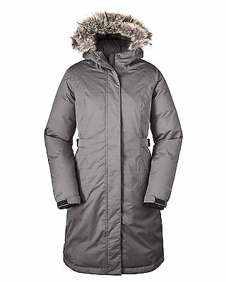 f8b595ff62114 Eddie Bauer 2015 Womens WeatherEdge Superior Down Stadium Parka Coat Lt  Gray NWT
