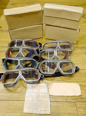 Authentic Soviet USSR Russian Pilot Tankman Goggles Glasses Aviator WW2