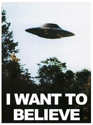 Poster X Files I Want To Believe Voglio Crederci Alien Ufo Alieni Serie Tv #5