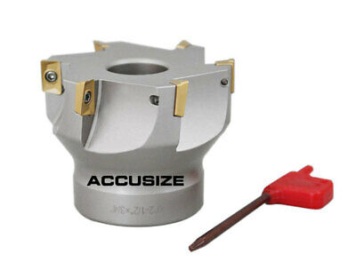 """2-1/2""""x3/4"""" 90 Deg. Square Shoulder Indexable Face Mill w/ APKT Ins, #4508-0016"""