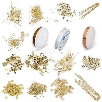 Large Jewelry Making Starter kit DIY Findings Wire Chain Crimp Spacer Beads