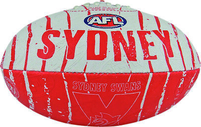 Sydney Swans AFL Footy Collegiate Size 2 Synthetic Football