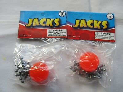 Metal Jacks with Super Ball Classic Kids Game Toys