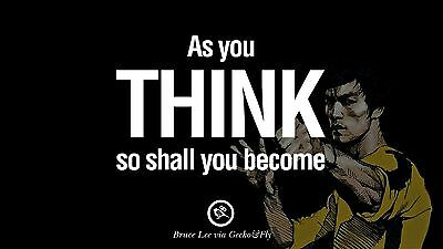 Inspirationa Quotes From Bruce Lee Martial Arts Mini Poster