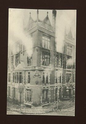 Gloucestershire BRISTOL Merchant Venturers College Fire 1906 Unused PPC