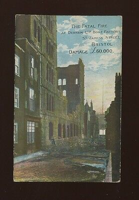 Gloucestershire Glos BRISTOL Derham Boot Factory James St Fire disaster 1906 PPC