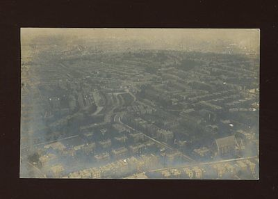 Gloucestershire Glos BRISTOL taken from Hot Air Balloon 1910 RP PPC