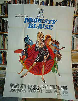 LOSEY/MODESTY BLAISE/ FRENCH poster