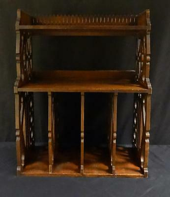 Antique Wooden Country Shelf with Fancy Cutouts