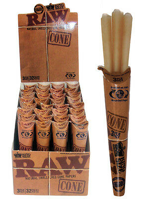 RAW King Size Cones 110mm Pre Rolled Smoking Tobacco Paper Rolling Cone Box