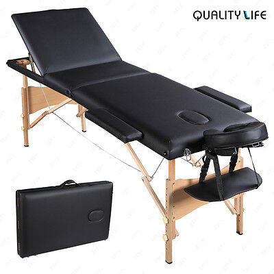 "84""L 3 Fold Portable Massage Table Facial SPA Bed Tattoo with Free Carry Case"
