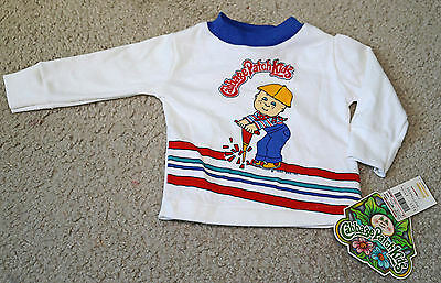 Vintage 1984 CABBAGE PATCH KIDS 9 Months Boys Shirt NWT Construction Long Sleeve