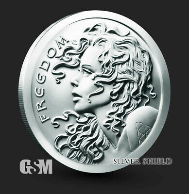2019 Freedom Girl Silver Shield Silver Round Coin 1 oz .999 Fine Silver IN-STOCK