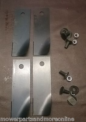 2 PAIR ROVER 30in & 38in RANGER, RANCHER FLUTED RIDE ON MOWER BLADES - A07873